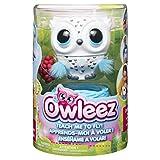 Owleez 6046148 - fliegende interaktive Spielzeug-Babyeule, mit Leuchteffekten und Sound, weiß