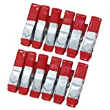 ESUMIC® 12PCS 2Inch Metallfeder-Klemmen Gummi überzogener Spitze-Griff-Halter für kampierendes Plane