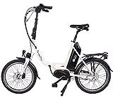 GermanXia Premium E-Bike Faltrad Mobilemaster E-Klapprad cm 8G Nabenschaltung Shimano mit Rücktrittbremsen, max. 80 Nm Mittelmotor mit Drehmomentsensor, bis zu 145 km nach StVZO