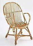 Weidenprofi Korbmöbel, Möbel aus Weide: Stuhl (inkl. Sitzauflage) 56 x 45 cm, Sitzhöhe 45 cm, Gesamthöhe 92 cm