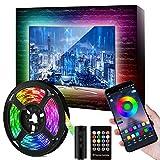 TV LED Hintergrundbeleuchtung 9.84 ft(3m), LED-Streifen für 46-60 Zoll TV, mit 16 Millionen DIY Farben, wasserdichter RGB LED-Streifen mit USB-Stromversorgung APP Control+ Fernbedienung