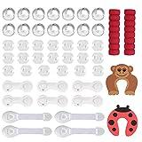 Lictin Baby Sicherheit Magnetisches Schrankschloss Kindersicherung Schranksicherung für Schrank Schubladen ohne Bohren und Schrauben, 48 Pcs