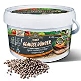 Bodenkaiser Gemüsedünger, organisch-mineralischer Dünger für Gemüse mit Langzeit-Wirkung, 2,5 kg Düngergranulat im praktischen Eimer