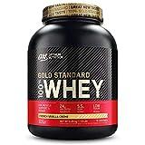 Optimum Nutrition ON Gold Standard Whey Protein Pulver, Eiweißpulver Muskelaufbau mit Glutamin und Aminosäuren, natürlich enthaltene BCAA, French Vanilla Crème, 73 Portionen, 2,27kg
