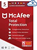 McAfee Total Protection 2020 | 5 Geräte | 1 Jahr | Antivirus Software, Virenschutz-Programm, Passwort Manager, Mobile Security, Multi Geräte | PC/Mac/Android/iOS |Europäische Ausgabe| Download Code