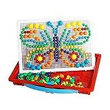 Mosaik Steckspiel mit 304 Teilen, Steckmosaik, Kreativspielzeug, pädagogisch