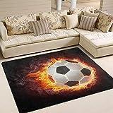 Use7 Fußball-Teppich, für Wohnzimmer, Schlafzimmer, Textil, Multi, 203cm x 147.3cm(7 x 5 feet)