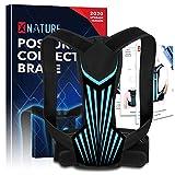 XNATURE Haltungskorrektor für Männer und Frauen, faseriger Knochenverstärkungs-Haltungskorrektor/verstellbare verdeckte Rückenbahre/Zur Linderung von Schmerzen im oberen Rücken (Taille 22'-39')
