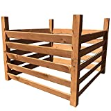 Holz Kompostsilo'BIO' - Komposter mit Zuganker 100x100x80cm