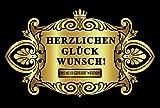 Oblique Unique Aufkleber Flaschenetikett Herzlichen Glückwunsch Etikett Gold elegant