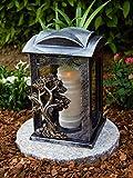 Garten Paradies Handmade Grablampe Grablicht Grablicht Grabdekoration Grabschmuck Kerze incl.Grabkerze