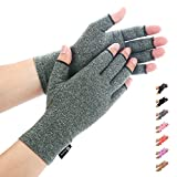 Duerer Anti-Arthritis Handschuhe (Paar) - Compression Handschuhe f¨¹r Rheumatoide & Osteoarthritis - Handschuhe bieten arthritische Gelenkschmerzen Linderung der Symptome(Grau, S)