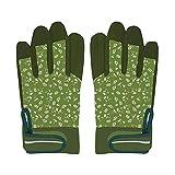 Rivanto® Gartenarbeitshandschuhe Gemustert Größe M, Bodenhandschuhe für Garten und Beet, Arbeitshandschuhe mit Klettverschluss, atmungsaktiv