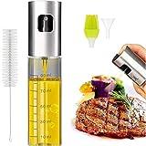 Ölsprüher Flasche 100ML,Eletorot Öl Sprühflasche, Essig spritzer Ölspender, Transparent Öl Sprayer mit Bürstefür Kochen, Salat, BBQ, Pasta, Grill Zubehör