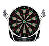 HOMCOM Elektronische Dartscheibe Dartboard Dart-Set mit LED-Display 6 Darts 24 Dartköpfe 218 Spiele und 159 Trefferoptionen für 8 Spieler Mehrfarbig 44L x 50B x 3,2H cm