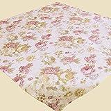Kamaca Serie Romantic Roses in Creme Rose mit zarten Pastelltönen Markenqualität hoher Baumwolle Anteil (Mitteldecke 85x85 cm)