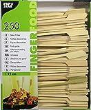 Papstar Fingerfood-Spieße / Holzspieße 'Golf' (250 Stück) 12 cm, Naturholzspieße aus Bambus, für Grillgut, Pfanne, Fingerfood und Antipasti, stabil, gut zum Greifen durch breiteres Holzende #16730