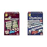 Schmidt Spiele 49282 - Classic Line MyRummy, Legespiel mit großen Spielsteinen & 49207 Classic Line, Domino, mit großen Spielsteinen, bunt