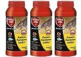 Köder-Discount: SBM Protect Home Ratten Portionsköder 3 X 500g Rodicum mit 3 Warnaufklebern