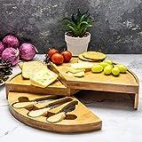 Home Treats Käsebrett, aus Bambus, 3 Größen und Designs erhältlich Rund braun