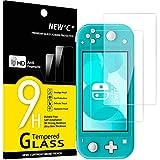 NEW'C 2 Stück, Schutzfolie Panzerglas für Nintendo Switch lite, Frei von Kratzern, 9H Härte, HD Displayschutzfolie, 0.33mm Ultra-klar, Ultrabeständig
