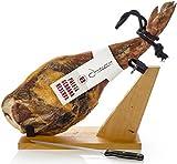 Serrano Schinken Reserva Halbentbeint (Vorderschinken) + Schinkenhalter + Messer 4 - 4.5 Kg
