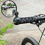 Fahrradspiegel, Fahrrad Radfahren Rückspiegel Einstellbare Drehbare Lenkstange Montiert Kunststoff Konvexen Spiegel 360 Grad drehen Spiegel für Bike Fahrrad