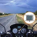 FORNORM Autouhr Digital Beleuchtet Uhr Fahrrad, Motorrad Uhren Wasserdicht, Uhren Batterien mit 12h Format Zeit und Temperaturanzeige für Auto Fahrrad, 3M sticker, 1.4 * 1.2 * 0.4' (D*H)