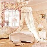 Moskitonetz für Bett Baldachin Haken Rundbett Vorhang Baldachin Zelt Bettwäsche Dekor für 2M Bett, Moskito-Schutz