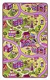 andiamo Straßenteppich/Spielteppich Sugar Town, Pink, Rosa, GUT/Prodis geprüft, weich, Größe:100 x 165 cm
