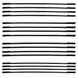 16 Stück Dekupiersägeblatt 127mm Feinschnitt Laubsägeblätter mit Stift 10/15/18/24 Zähne passend für Dekupiersägen für Holzbearbeitung Elektrowerkzeug-Zubehör