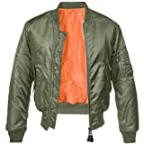 Brandit MA1 Jacke Oliv/Orange XL