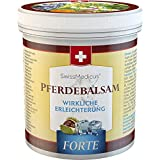 SwissMedicus Pferdebalsam kühlend extra stark - Pferdesalbe Forte 500 ml - enthält 25 Kräuterextrakte inkl. Beinwell, Rosskastanie, Wacholder, Arnika, Eukalyptus