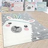 Paco Home Kinderteppich Kinderzimmer Moderne Pastell Farben, Niedliche Motive, 3D Effekt, Grösse:160x230 cm, Farbe:Grau