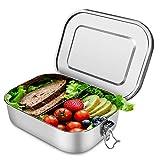 Acokki Auslaufsicher Brotdose aus Edelstahl: Bento Box,ohne Plastik&BPA,1400ml Lunchbox mit Fächern, zum Wandern/Reisen/Schule Kinder und Erwachsene