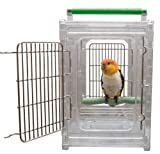 Paradise Toys CaitecPerch & Go Vogel-Transportkäfig, Polycarbonat, transparent