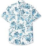 Amazon Essentials Herren-Hemd, Kurzarm, reguläre Passform, gemustert, Large Floral, US L (EU L)