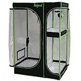 Zelsius Growzelt MyHomeGrow 2-in-1 Grow Tent   Indoor Growbox   schwarz grün   Growroom Growschrank Darkroom Pflanzenzelt Gewächshaus Zuchtzel (90 x 60 x 135 cm)