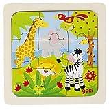 Goki Einlegepuzzle Tiere im Dschungel, 9 Teile