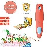 3D Druckstift, Kabellos 3D Stifte Set für Kinder DIY Scribbler, 3D Stereoscopic Printing Pen mit 120 PCL Filament, Niedrigtemperatur 3D Stift für Kinder sicher