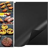 HUISPARK 40×30 cm Grillmatte, 0.2 mm Dicke FDA-Approved BBQ Mats,100% Antihaft-Grillpads,Einfach sauberes wiederverwendbares Hochleistungsgrillpapier (2er Set)