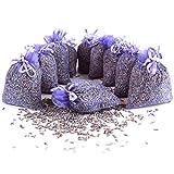 Quertee 10x Lavendelsäckchen mit echtem französischen Lavendel – 100g Lavendelblüten verpackt zu je 10g Lavendel in Duftsäckchen - Lavendelduft zum Entspannen und als Mottenschutz im Kleiderschrank