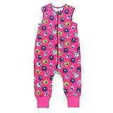 TupTam Baby Unisex Winter Schlafsack mit Beinen, Farbe: Süße Monster Pink, Größe: 92-98