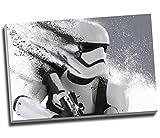 Star Wars Storm Trooper Leinwanddruck, groß, A1, 76,2 x 50,8 cm, Schwarz / Weiß