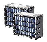 Sichler Haushaltsgeräte Zubehör zu USB-Klimaanlage: 2er-Set Ersatzfilter für Tisch-Luftkühler und -Luftbefeuchter LW-110 (Air-Kühler)