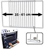 Rosenstein & Söhne Backofengitter: Universal-Backofenrost, ausziehbar von 35-61 cm, 32 cm tief (Backblech)