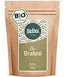 Brahmi Bio Pulver- 500g - Bacopa Monnieri - Gedächtnispflanze - vegan - Garantiert ohne Zusatzstoffe - Abgefüllt und überwacht in Deutschland (DE-ÖKO-005)
