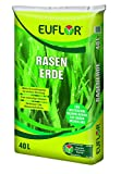 Euflor Rasenerde 40 L Sack, hochwertige Spezialerde zur Neuanlage von Rasenflächen und bei Reparatur von Problemstellen im Rasen, fördert das Rasenwachstum