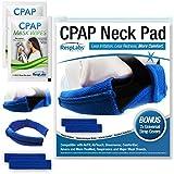 RespLabs CPAP Neck Pad - Wiederverwendbares Comfortvlies mit 2 universellen CPAP-Kopfbedeckungen