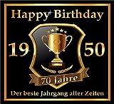 RAHMENLOS 3 St. Aufkleber zum 70. Geburtstag: 1950 der Beste Jahrgang Aller Zeiten - Selbstklebendes Flaschen-Etikett. Original Design